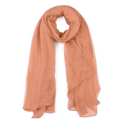 uxcell ショールスカーフ ロング ウォーム ショール 柔らかい スカーフ 男女兼用 ライトオレンジ-1 18x14cm
