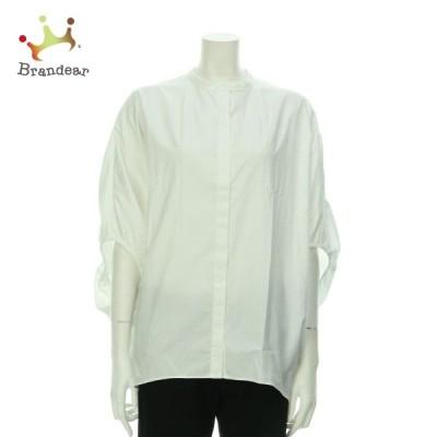 ミズイロインド シャツブラウス サイズM レディース 美品 ホワイト系 シャツ・ブラウス 新着 20201127