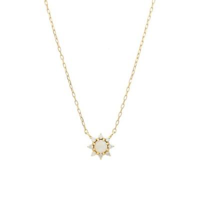 L&Co. エルアンドコー K18 誕生石&ダイヤモンド ネックレス(オパール)