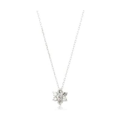 [ディーコレクション] ダイヤモンド 0.2ct ホワイトゴールド K18 ネックレス DTP5167WG (カラー-シルバー)