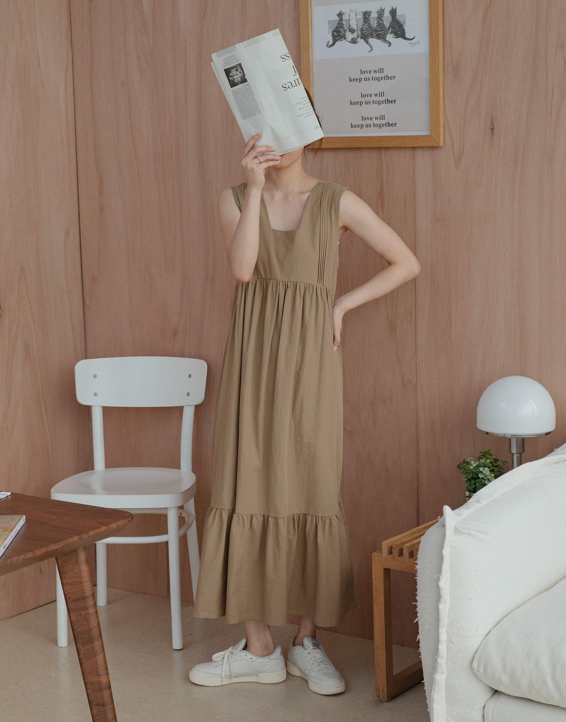 BUTTER 奶油日常棉麻洋裝-PAZZO