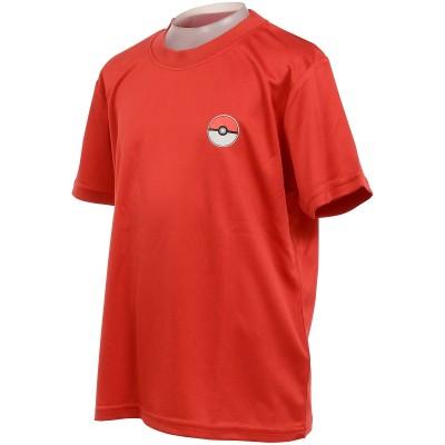 SPORTS AUTHORITY (スポーツオーソリティ) ポケモンラインアップTシャツ FREE RED ジュニア 5C-S21-012-004