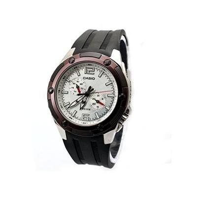 腕時計 カシオ メンズ MTP1326 Casio Men's MTP1326-7A3V Black Resin Quartz Watch with Silver Dial
