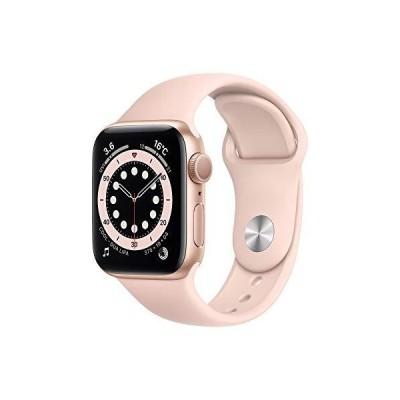 最新 Apple?Watch Series 6(GPSモデル)- 40mmゴールドアルミニウムケースとピンクサンドスポーツバンド + Belkin iPhone+Appl