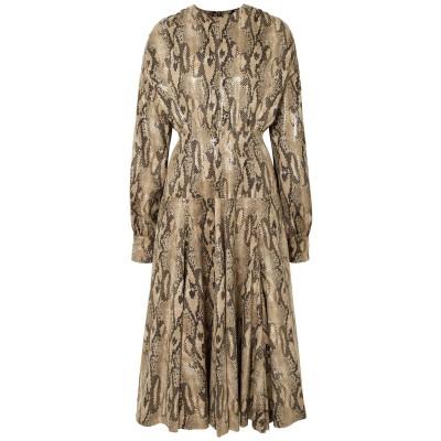 エムエスジーエム MSGM 7分丈ワンピース・ドレス サンド 38 ポリエステル 100% 7分丈ワンピース・ドレス