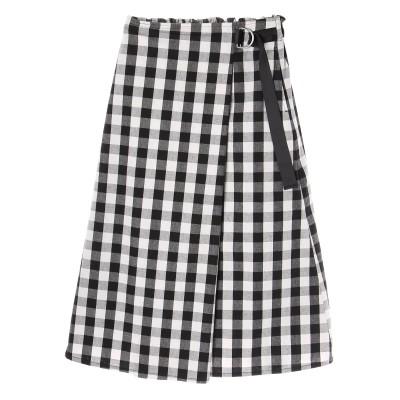 ・ブロックチェックラップスカート