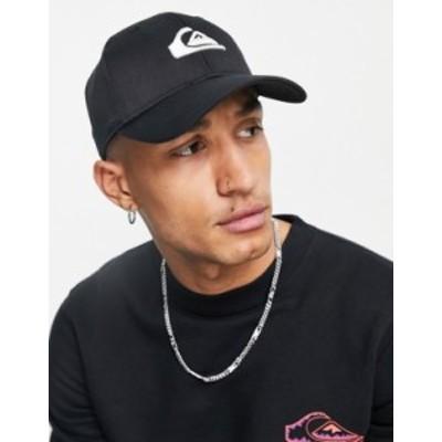 クイックシルバー メンズ 帽子 アクセサリー Quiksilver Decades cap in black Black