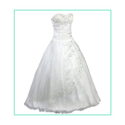 FairOnly White Strapless Formal Wedding Dress Prom Gown (L)並行輸入品