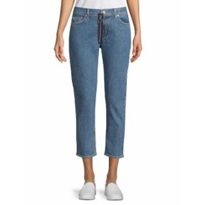 ハドソン レディース パンツ デニム Contrast Zip Cropped Jeans
