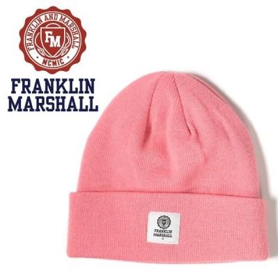 フランクリン&マーシャル FRANKLIN & MARSHALL ニットキャップ 帽子 メンズ レディース 男女兼用 ワンポイントロゴ シンプル ニット帽 CAPS