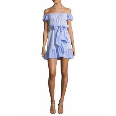 レンビー レディース ワンピース Printed Ruffle Wrap Dress