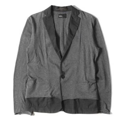 kolor カラー ジャケット レイヤード コットン カーディガンジャケット グレー 1 【メンズ】【中古】【K2750】