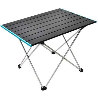seiyishi アウトドアテーブル ロールテーブル 折り畳み式テーブル アルミ製 ロール式天板 アウトドアキャンプ コンパクト 軽量 耐荷重30kg