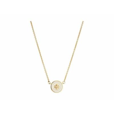 トリーバーチ ネックレス・チョーカー・ペンダントトップ アクセサリー レディース Kira Enamel Pendant Necklace Tory Gold/New Ivory