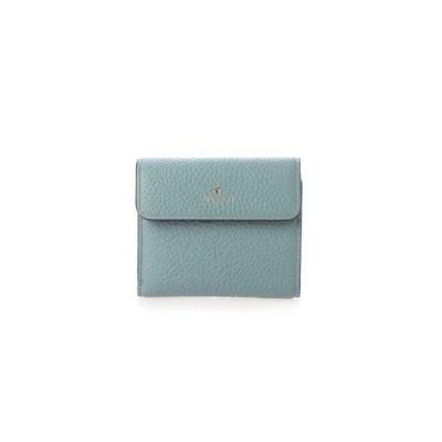 ペレボルサ PELLE BORSA 2つ折り財布 (ブルーグレー)