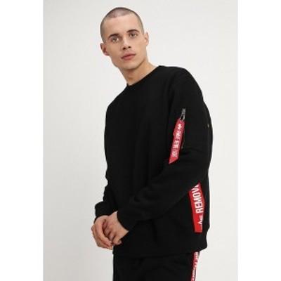 アルファインダストリーズ メンズ パーカー・スウェットシャツ アウター INLAY TAPE - Sweatshirt - black black