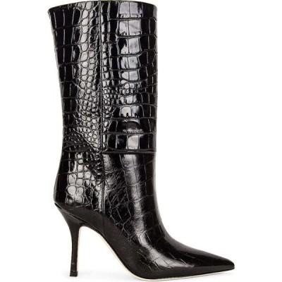 パリ テキサス Paris Texas レディース ブーツ クロコダイル柄 シューズ・靴 Embossed Croco Mama Mid Calf Boot Carbone