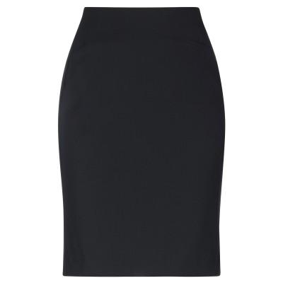 エンポリオ アルマーニ EMPORIO ARMANI ひざ丈スカート ブラック 38 バージンウール 98% / ポリウレタン 2% ひざ丈スカート