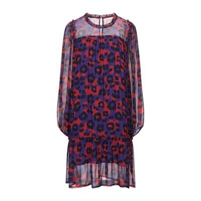 I HEART ミニワンピース&ドレス パープル S レーヨン 100% ミニワンピース&ドレス