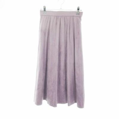 【中古】ココディール COCO DEAL スカート フレア ロング 無地 1 紫 パープル /NF レディース