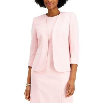 カスパー ジャケット&ブルゾン アウター レディース Cuffed Open-Front Blazer Tutu Pink