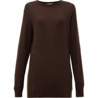 ボッテガ ヴェネタ Bottega Veneta レディース ニット・セーター トップス Fine-gauge cashmere sweater Brown