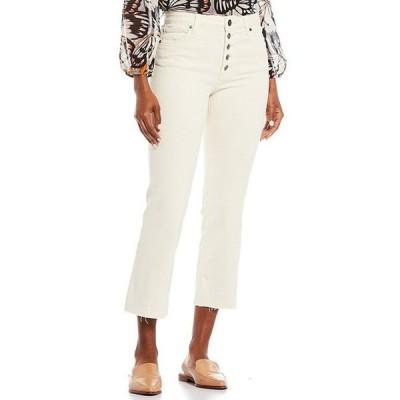 カットフロムザクロス レディース デニムパンツ ボトムス Kelsey High Rise Kick Flare Exposed Button Fly Ankle Jeans
