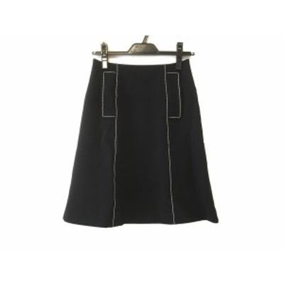フォクシーニューヨーク FOXEY NEW YORK スカート サイズ38 M レディース 黒×アイボリー【中古】20200513