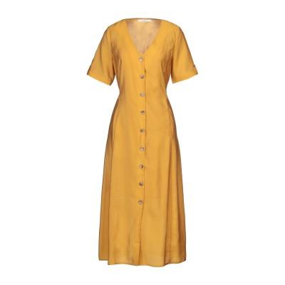 GESTUZ 7分丈ワンピース・ドレス オークル 34 テンセル 85% / ポリエステル 15% 7分丈ワンピース・ドレス