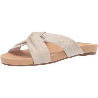 レディース 靴 サンダル Lucky Brand Women's Fynna Synthetic Open Toe Flat Slide Sandal