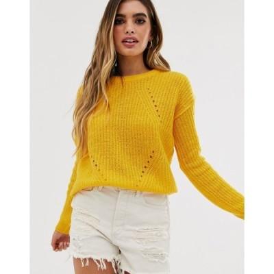 ブレーブソウル レディース パーカー・スウェットシャツ アウター Brave Soul fab sweater in yellow Sunshine yellow