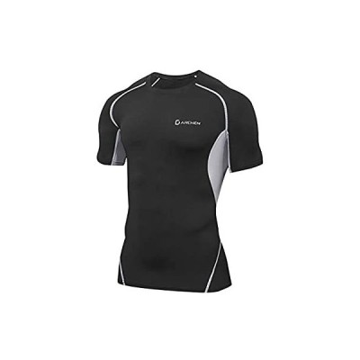 Darchen(ダーチェン) 加圧tシャツ 半袖 メンズ スポーツウェア [軽量 吸汗速乾 メッシュ通気] コンプレッショントップス インナー アンダ