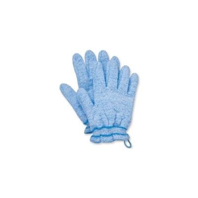 ds-2360903 (まとめ)オカモト 浴用手袋 やさしい手 ブルー 1パック(2枚) 【×5セット】 (ds2360903)