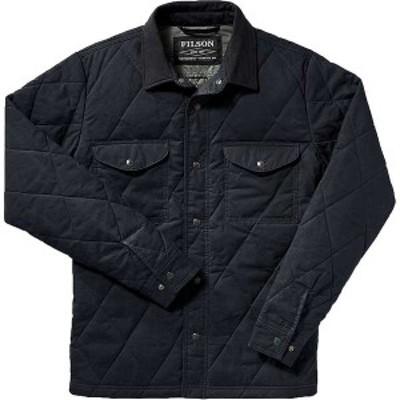 フィルソン メンズ ジャケット・ブルゾン アウター Filson Men's Hyder Quilted Jac-Shirt Faded Navy