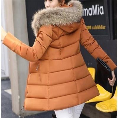 中綿コートレディース厚手フート付き無地中綿ジャケットフード付きアウター秋冬あったか防寒防風おしゃれ冬服