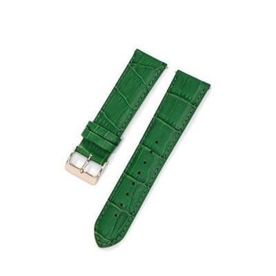 CASSIS[カシス] カーフ 型押し 時計ベルト 裏面防水素材 AVALLON アバロン 22mm グリーン 交換用工具付き X10222