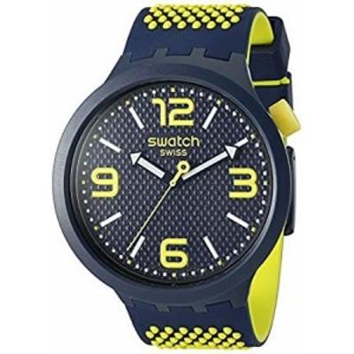 Swatch Big Bold Quartz Silicone Strap, Blue, 24 Casual Watch (Model: SO27N1