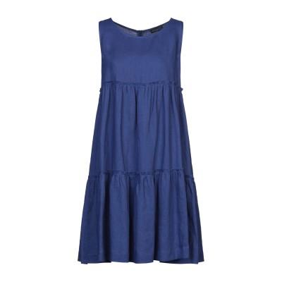 ANTONELLI ミニワンピース&ドレス ブルー 42 リネン 100% ミニワンピース&ドレス