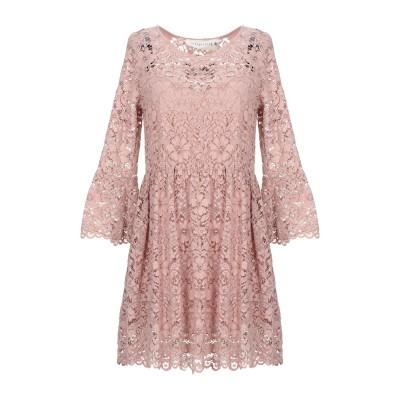 SHIRTAPORTER ミニワンピース&ドレス ピンク 40 ポリエステル 100% ミニワンピース&ドレス