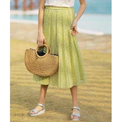 【エニィスィス/any SiS】 【洗える】プチフラワースパンローン スカート