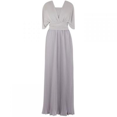 オアシス Oasis レディース パーティードレス マキシ丈 ワンピース・ドレス Wear It Your Way Pleated Maxi Dress Grey