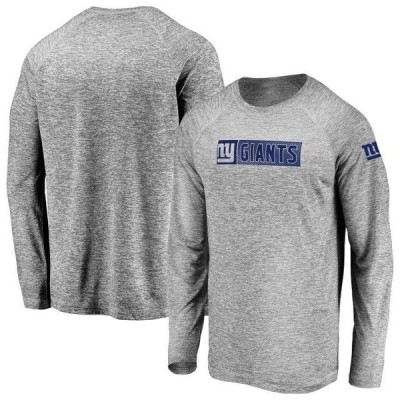 メンズ スポーツリーグ フットボール Men's Fanatics Branded Gray New York Giants In the Zone Long Sleeve T-Shirt Tシャツ