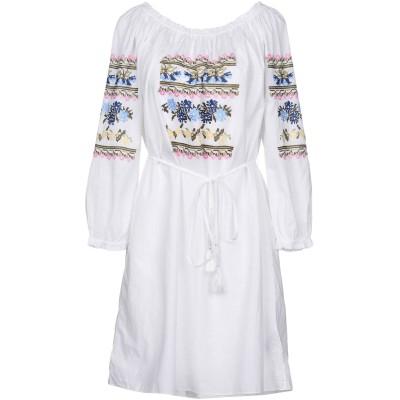 NEEDLE & THREAD ミニワンピース&ドレス ホワイト 12 コットン 100% / シルク ミニワンピース&ドレス
