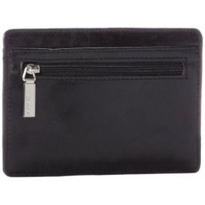 ホボ アメリカ 日本未発売 HOBO Vintage Euroslide Card Holder Wallet,Black,One Size