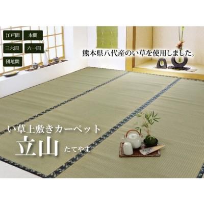 純国産 い草 上敷き カーペット 糸引織 団地間1畳(約85x170cm) 熊本県八代産イ草使用 送料無料