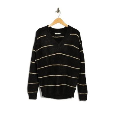 ラッシュ レディース ニット&セーター アウター Stripe Print Long Sleeve Sweater BLACK CREA