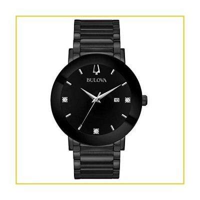 Bulova Men's Modern Quartz Watch with Stainless-Steel Strap, Black, 22 (Model: 98D144)並行輸入品