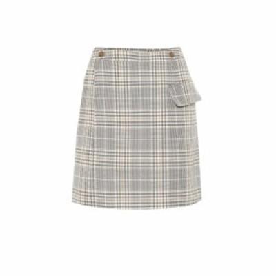 アクネ ストゥディオズ Acne Studios レディース スカート Checked cotton-blend skirt grey