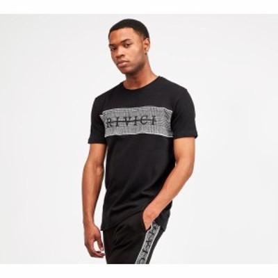 Rivici メンズ Tシャツ トップス howarth check panel t-shirt
