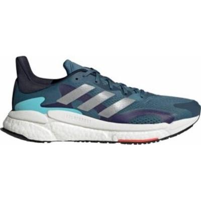 アディダス メンズ スニーカー シューズ adidas Men's Solarboost 3 Running Shoes Blue Indigo/Silver